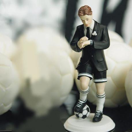 La figurine de mariage fan de football