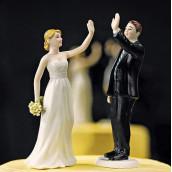 La figurine de mariage couple gagnant humoristique