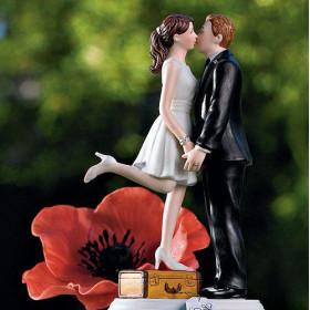 La figurine mariage couple en voyage