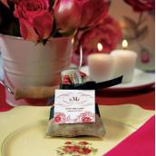 Les 12 pochons à dragées  thé rose