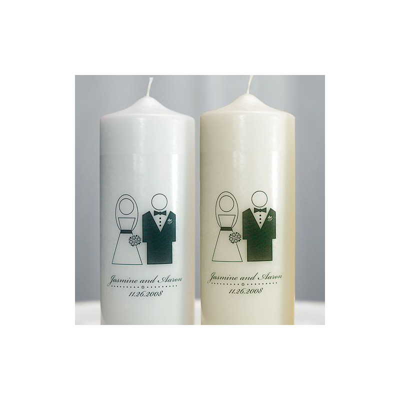 Bougies personnalis s pour mariage for Bougies personnalises pour mariage