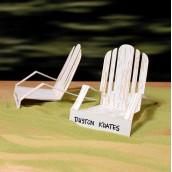 Les 4 marque-place chaise longue en papier