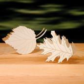 Les 4 marque-places feuilles d'arbre en dentelle de papier