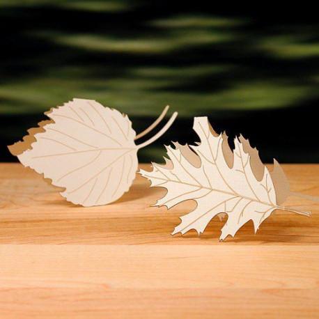 Marque place feuille d 39 arbre deco automne - Fabriquer des portes noms ...