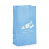 Le sac en papier personnalisés flocon (par 25)