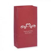 Les sacs en papier personnalisés cœur en arabesque