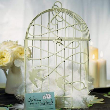 Urne mariage cage a oiseaux - Plan de table cage oiseau ...