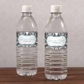 Les 12 étiquettes à bouteille d'eau damas