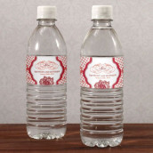 Les 12 étiquettes à bouteille d'eau esprit baroque