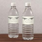 Les 12 étiquettes à bouteille d'eau fleur de lys