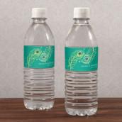Les 12 étiquettes à bouteille d'eau plume de paon