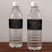 Les 12 étiquettes à bouteille d'eau orchidée