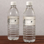 Les 12 étiquettes à bouteille d'eau rustique