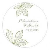 Le sticker personnalisé automne vert saule