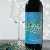Les 8 étiquettes à bouteille de vin plume de paon