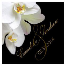 Les 2 cartes personnalisées  orchidée
