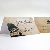 Le carton porte nom rustique (par 6)