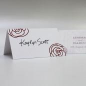 Le carton porte nom motif rose (par 6)