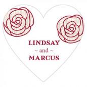 Le sticker personnalisé coeur rose