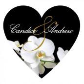 Le sticker personnalisé coeœur orchidée