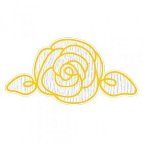 Le sticker en forme de rose (4 coloris)