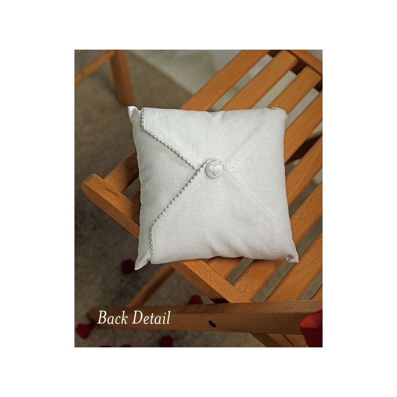 coussin alliances coeur brode personnalise