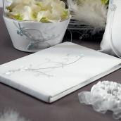 Le livre d'or oiseaux d'amour blanc