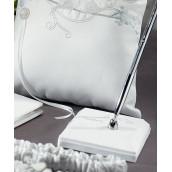 Le porte stylo oiseaux d'amour blanc