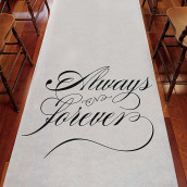 Le tapis d'église Always & Forever