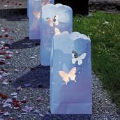 Les 12 sachets photophores papillon