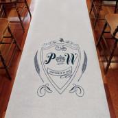 Le tapis d'église personnalisé blason