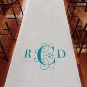 Le tapis d'église personnalisé monogramme classique déco