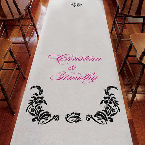 Le tapis d 39 glise damas personnalis place du mariage - Tapis personnalise mariage ...