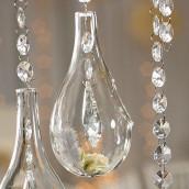 Les 4 gouttes à suspendre en verre