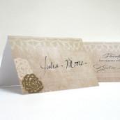 Le carton porte nom dentelle vintage (par 6) - 7 coloris