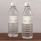 Les 10 étiquettes à bouteille d'eau dentelle vintage - 7 coloris