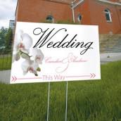 La pancarte wedding personnalisée orchidée