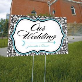 La pancarte mariage damas personnalisée