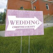 La pancarte wedding flèche personnalisée