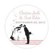 Le sticker personnalisé mariés - 5 coloris