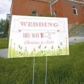 La pancarte wedding fanions en fête personnalisée
