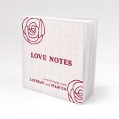 Les 12 blocs note personnalisés rose