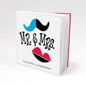 Les 12 blocs note personnalisés Mr & Mrs