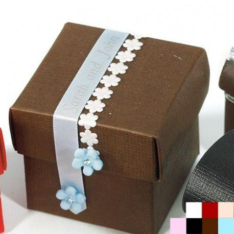 Les 10 boîtes à dragées cube - 7 coloris