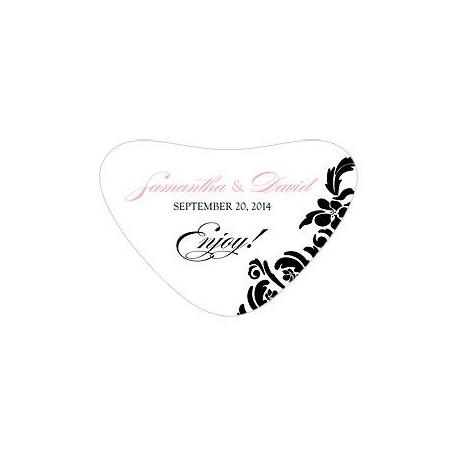 Le sticker pour boîte cœoeur damas