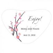 Le sticker pour boîte coeœur fleur de cerisier