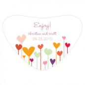Le sticker pour boîte coeur coeur en folie