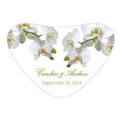 Le sticker pour boîte coeœur orchidée