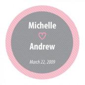Le sticker personnalisé gris et rose