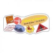Le sticker personnalisé voyage